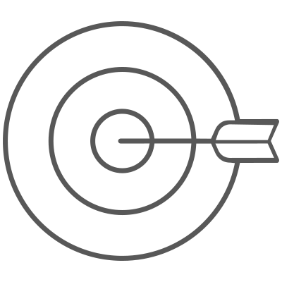 Press coverage target system icon